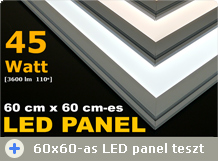 60x60-as LED panel teszt