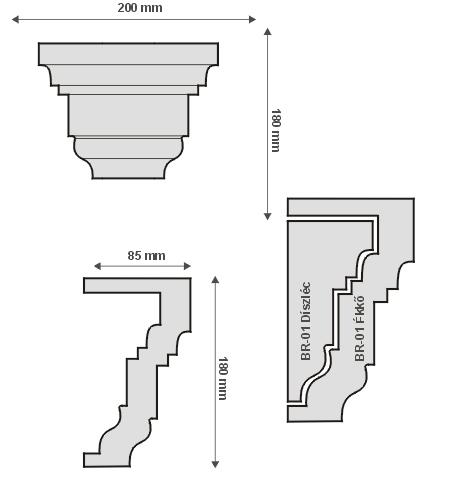 BR-01 Ékkő - pattintós kültéri középkonzol