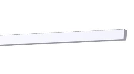 Kültéri díszléc - Sima léc 20 x 10 mm