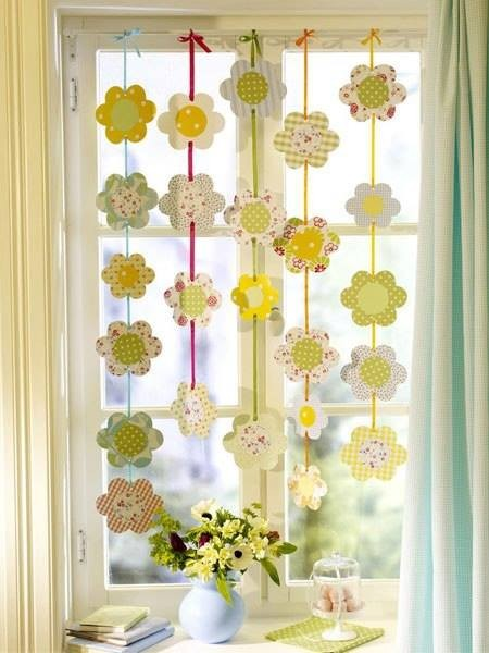Tavaszi dekor ci d szl c s led l mpa web ruh z - Fensterdeko selber basteln ...