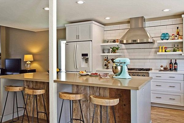 Reggelizőpult a konyhában - Díszléc és LED lámpa Webáruház