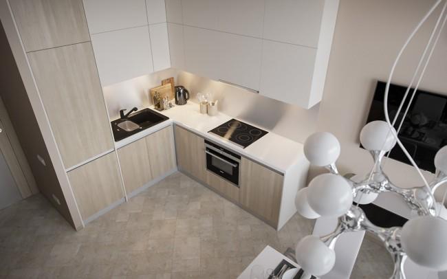 a1cc8fe873d7 A konyha is gyönyörű! A minimal stílusú lakásba tökéletesen illeszkedik a  marás nélküli, rejtett