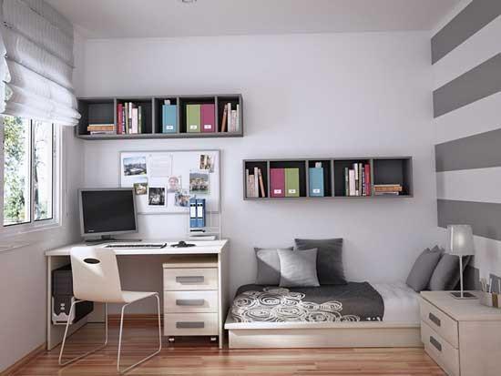 21. századi szoba ötletek modern tiniknek - Díszléc és LED lámpa ...