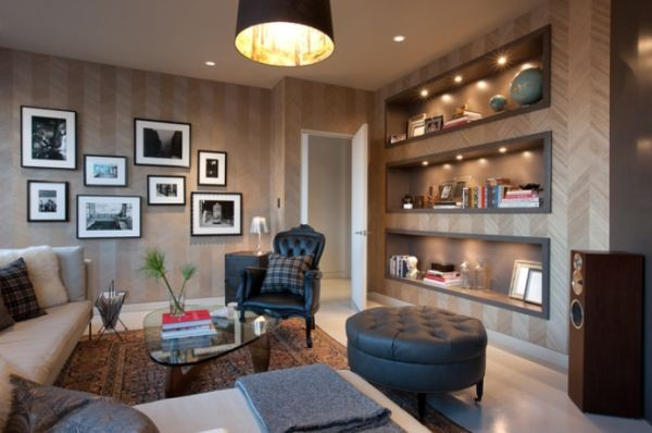 Nappali szoba beépített spotlámpákkal - Díszléc és LED lámpa Webáruház