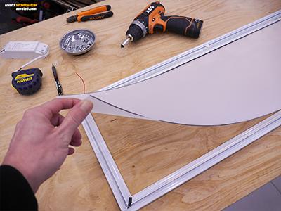 LED panel alsó PMMA fényterelő lapja