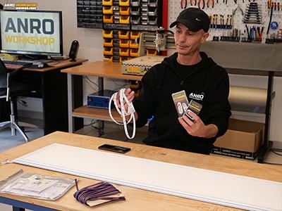 RGB LED panel készítése házilag, hozzávalók: RGB LED panel, RGB LED szalag, RGB vezérlő