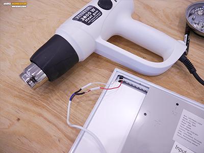 Fahrenheit hőlégfúvó zsugorcső melegítéséhez led panel szerelés