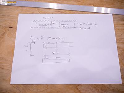 LED panel tartó handycad tervrajz