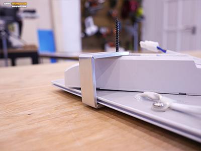 Az elkészült alumínium led panel tartó felépítése