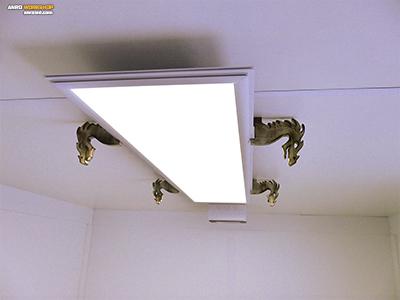 LED panel tartó rétegelt lemezből sárkányfej forma