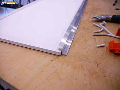 Egyenlő szárú alumínium lépcsős idom, Z profil LED panel tartó
