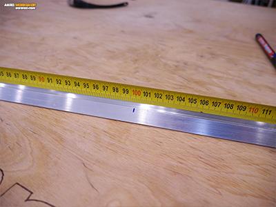 Az aluminium idomok mérése, jelölése