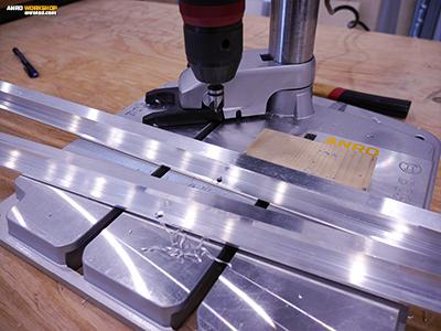 Alumínium profil fúrása oszlopos fúróval
