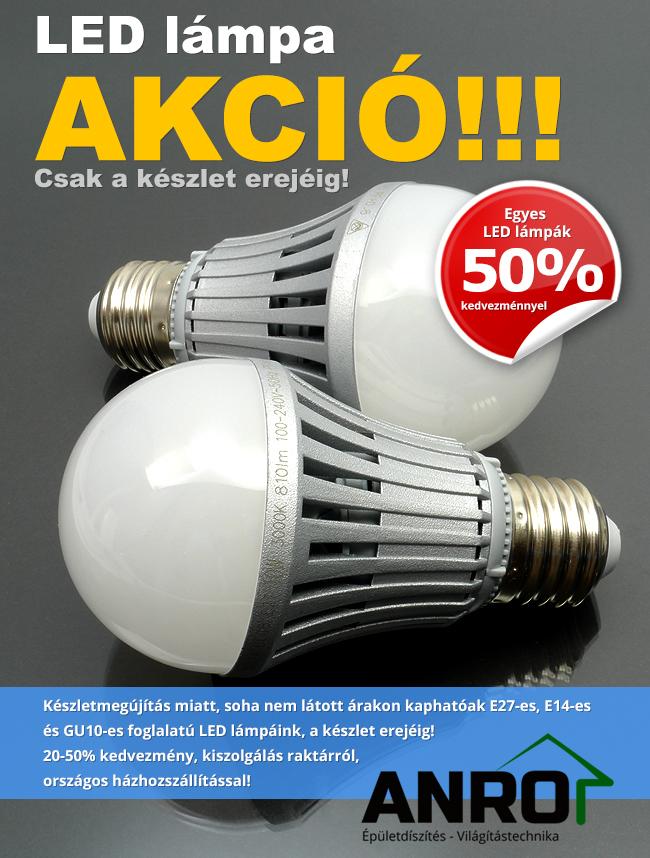 Augusztusi LED lámpa akció! - Díszléc és LED lámpa Webáruház
