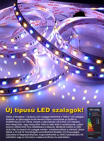 Új típusú LED szalagok érkeztek!