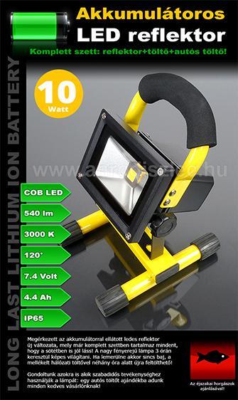 Akkumulátoros LED reflektorok