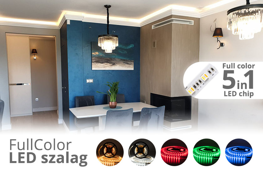 5 az 1-ben: Full color LED szalag