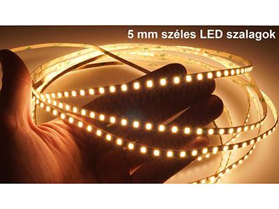 5 mm keskeny LED szalagok termékismertető
