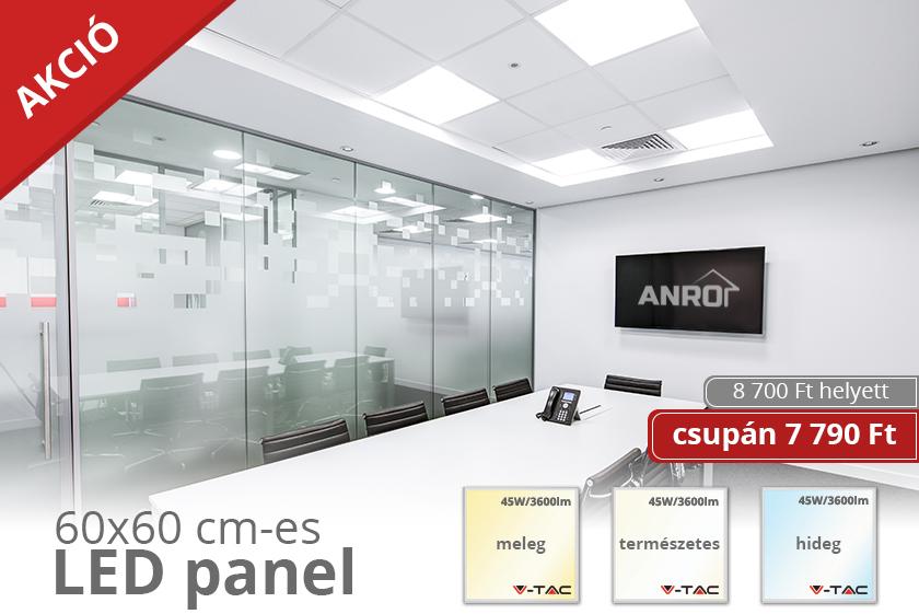 Akciós 60x60 cm-es LED panelek