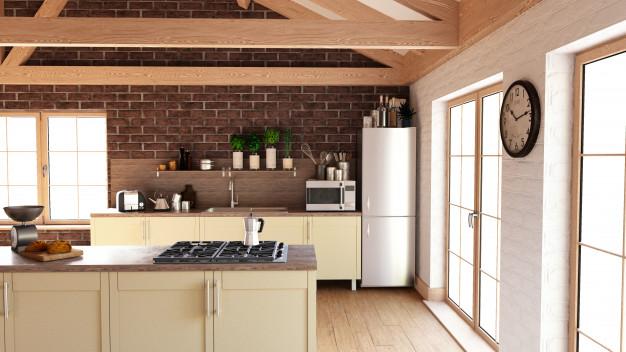 Falpanel loft konyhába