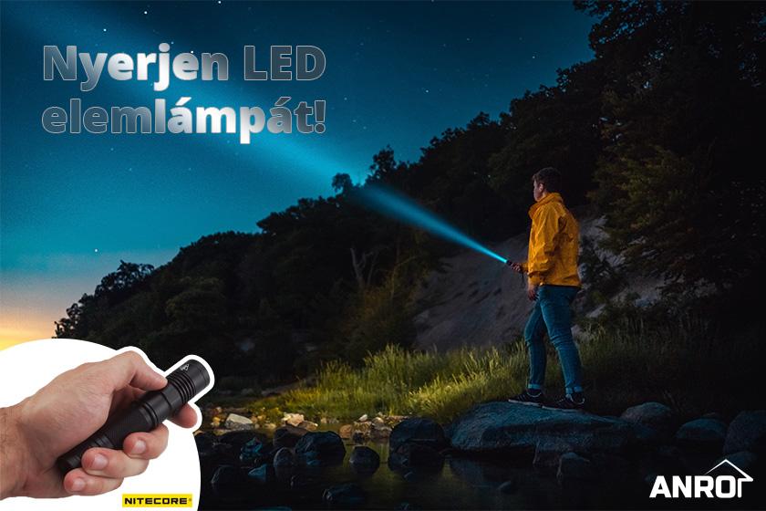 Nyerjen LED elemlámpát az ANRO Facebook oldalán!