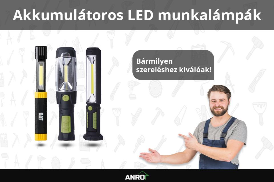 Akkumulátoros LED lámpák az ANRO-nál!