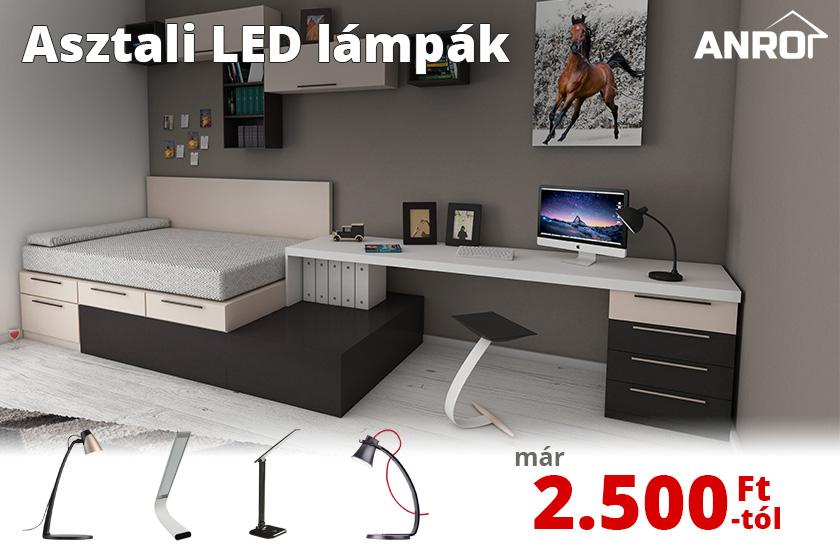 Asztali LED lámpák már 2.500 Ft-tól!