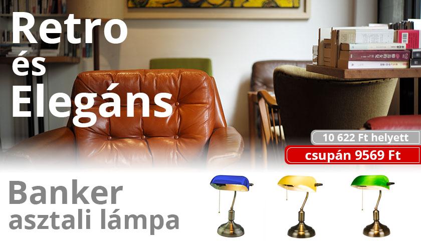 Retro és elegáns: Banker asztali lámpák