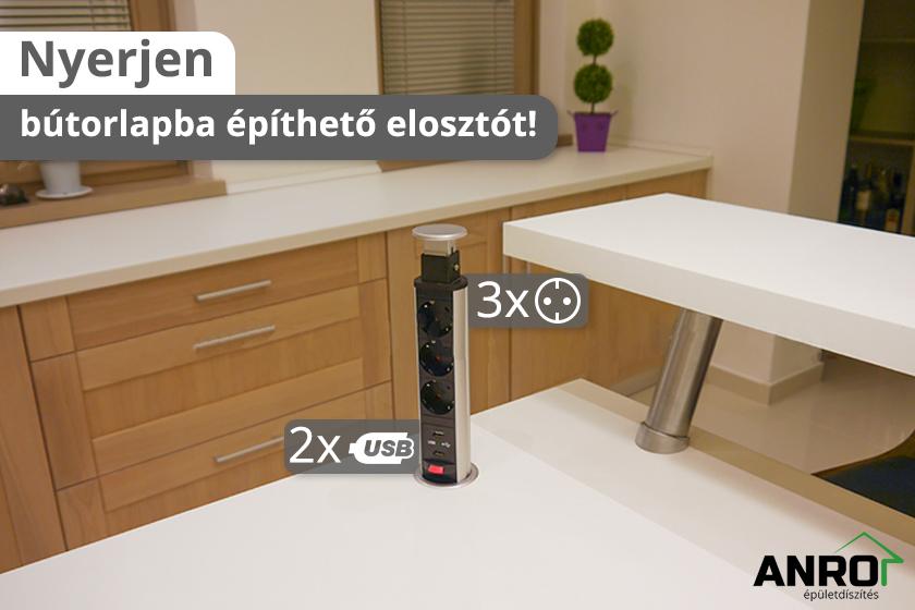 Nyerjen bútorlapba építhető elosztót!