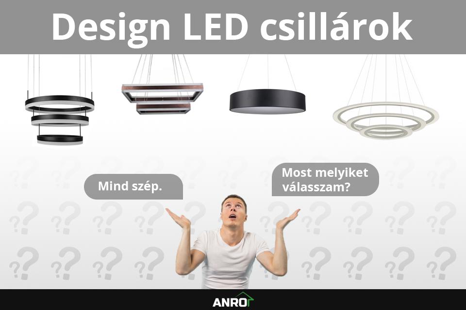 Design LED csillárok az ANRO-nál!