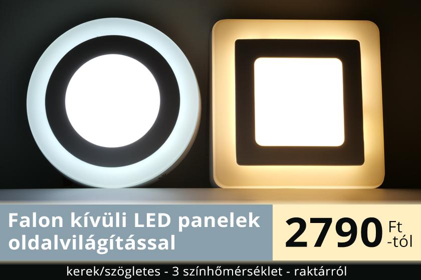 LED panelek oldalvilágítással