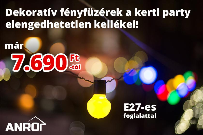 Keresse az ANRO kínálatában a dekoratív fényfüzéreket!