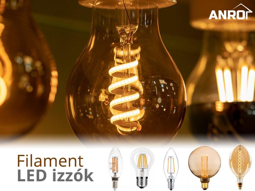 Filament LED izzók az ANRO-nál!