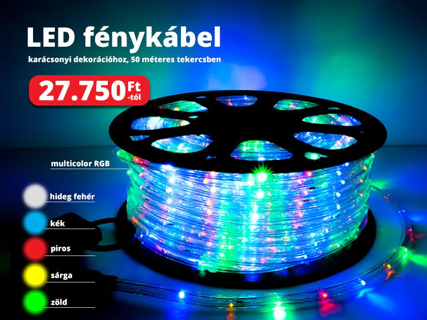 Ünnepi világítás LED fénykábellel