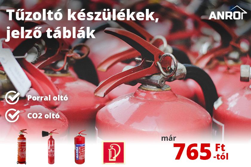 Fő a biztonság! Tűzoltó készülékek az ANRO-nál!