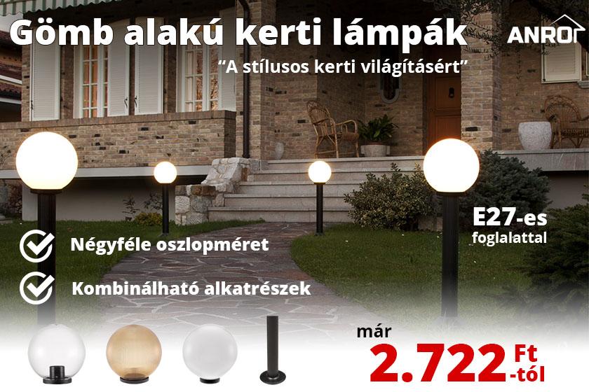 Gömb alakú kerti lámpák a stílusos kerti világításért!