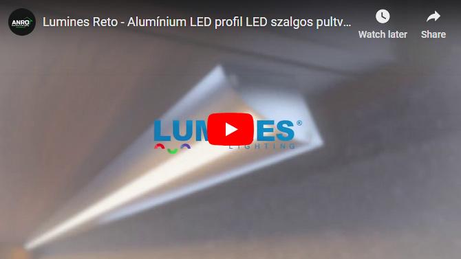 Lumines Reto - Alumínium LED profil LED szalgos pultvilágításhoz, 15°/30°-os szögben is szerelhető!
