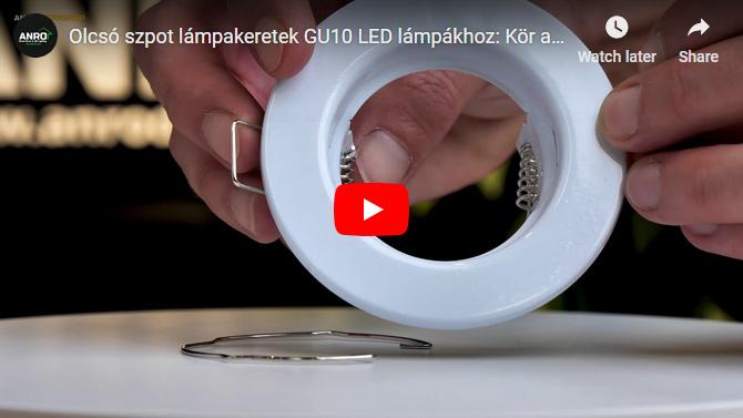 Olcsó szpot lámpakeretek GU10 LED lámpákhoz