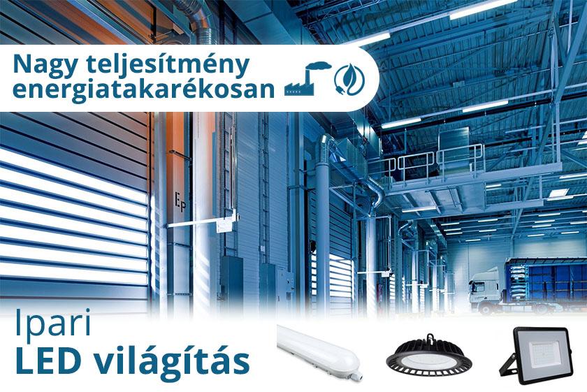 Ipari LED világítás energiatakarékosan