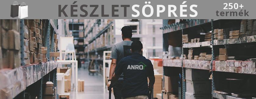 Készletsöprés az ANRO-nál! Több, mint 250 termék rendkívüli áron!