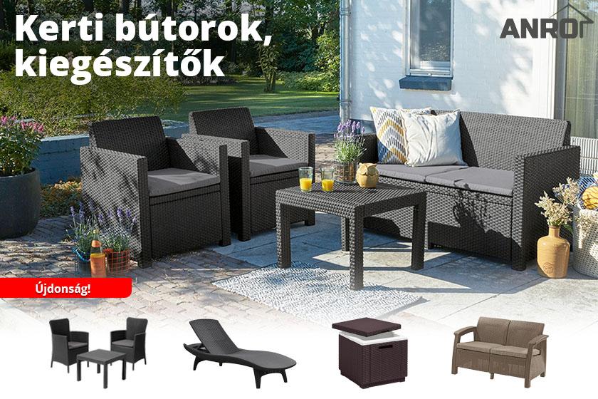 Újdonság az ANRO-nál: kerti bútorok és kiegészítők nagy választéka kapható!