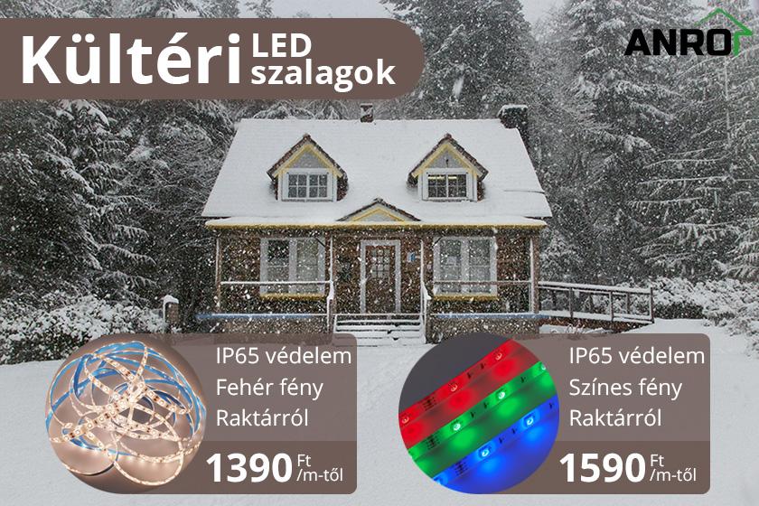 Kültéri LED szalagok széles kínálatával várjuk vásárlóinkat!