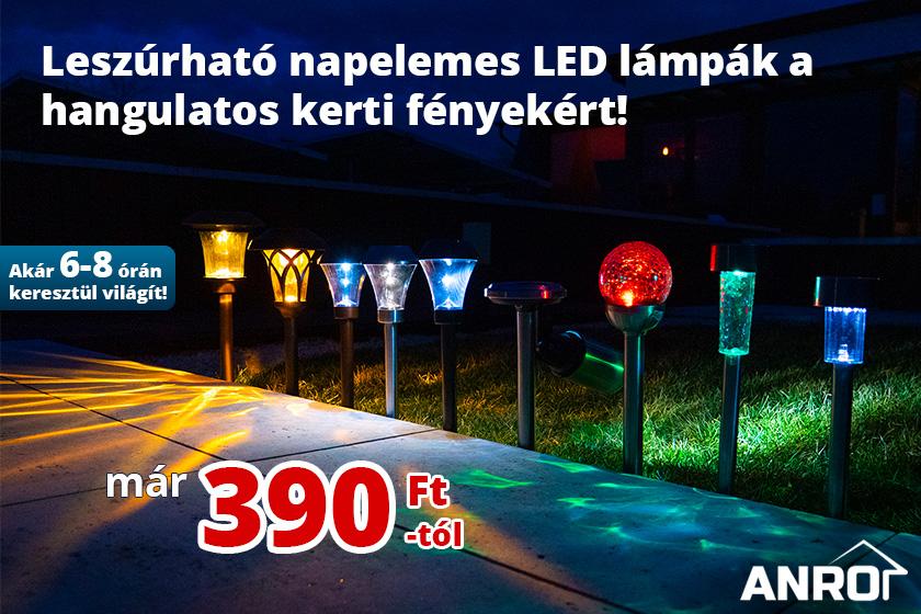 Leszúrható kerti LED lámpák