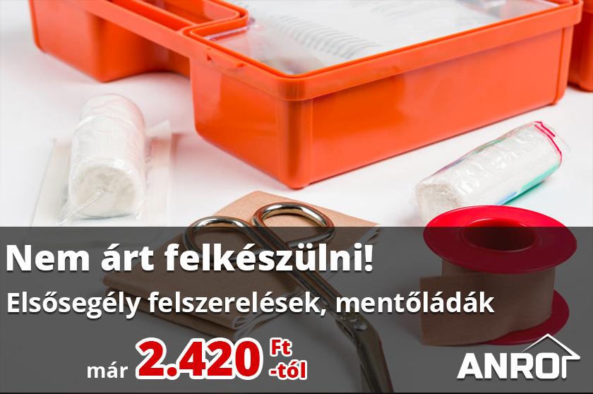 Elsősegély felszerelések széles kínálata az ANRO-nál!