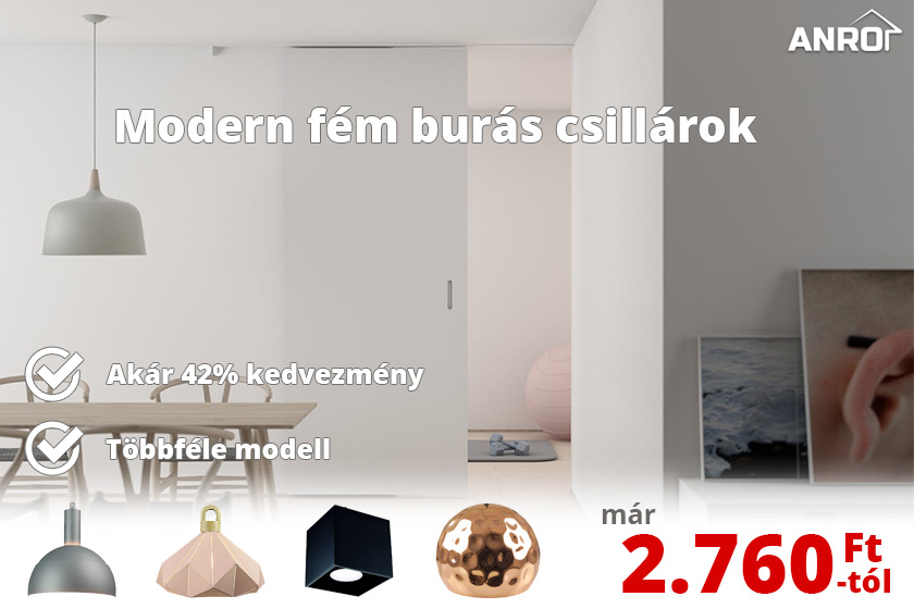 Modern fém burás csillárok már 2.760 forinttól!
