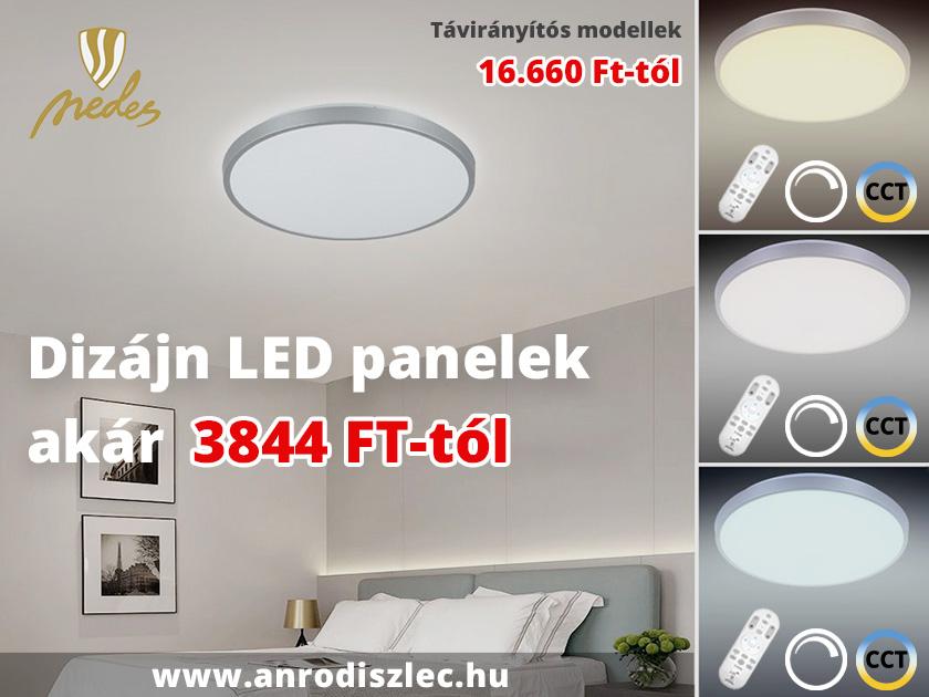 Nedes falon kívüli LED panelek modern dizájnnal