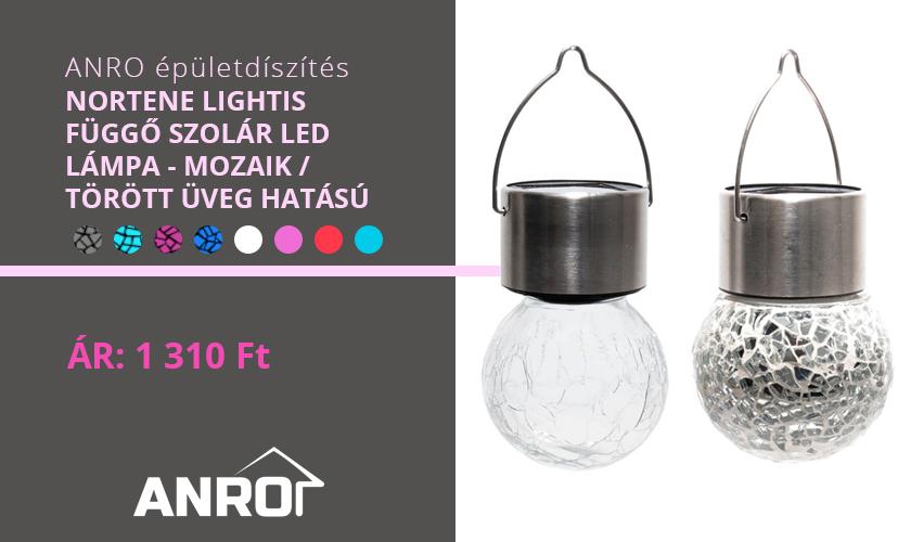 Nortene Lightis dekorációs szolár lámpák különböző színekben!