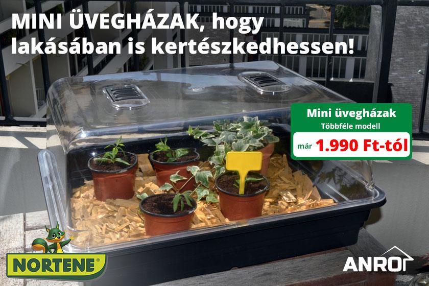 Az ANRO kínálatába Mini üvegházak érkeztek kertészkedéshez!