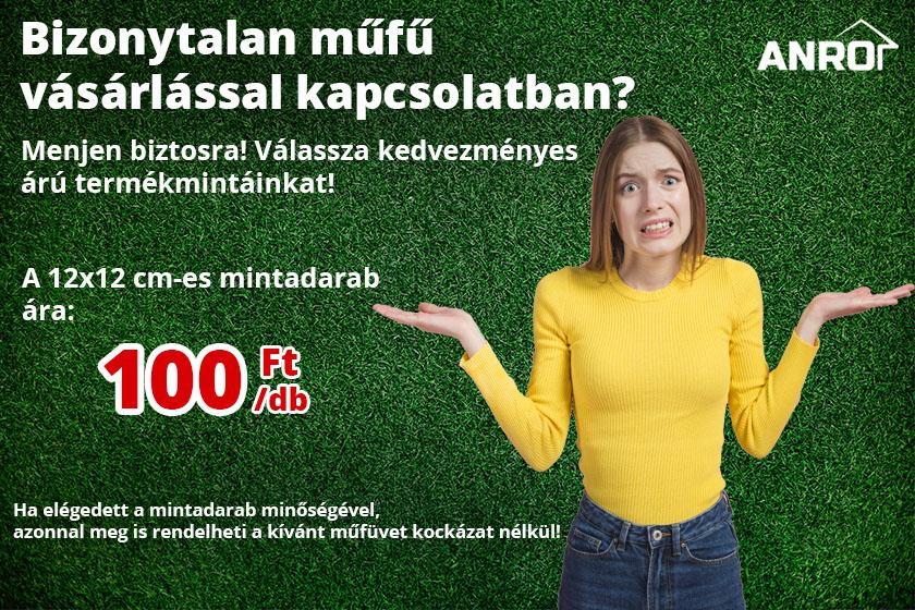 Válassza Nortene műfű termékmintáinkat 100 Ft/db áron!