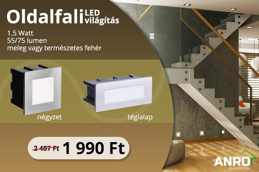Oldalfali LED világítás az ANRO kínálatában!